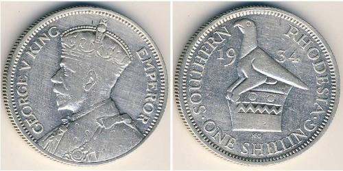 1 Шилінг Південна Родезія (1923-1980) Срібло Георг V (1865-1936)