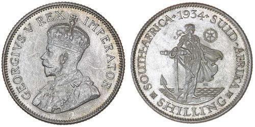 1 Шилінг Південно-Африканська Республіка Срібло Георг V (1865-1936)