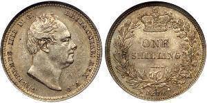 1 Шилінг Сполучене королівство Великобританії та Ірландії (1801-1922) Срібло Вільгельм IV (1765-1837)
