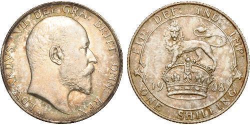 1 Шилінг Сполучене королівство Великобританії та Ірландії (1801-1922) Срібло Едвард VII (1841-1910)