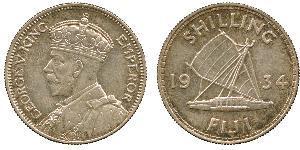 1 Шилінг Фіджі / Британська імперія (1497 - 1949) Срібло Георг V (1865-1936)