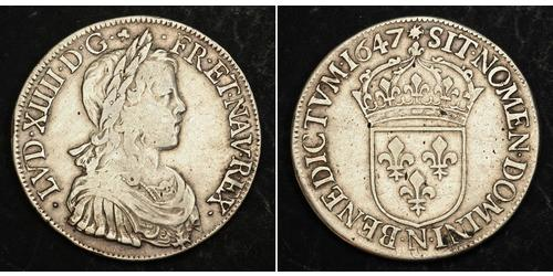1 Экю Франция Серебро Людовик XIV (1638-1715)