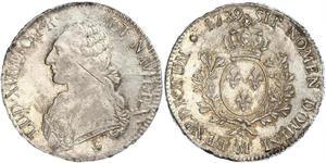 1 Экю Франкське королівство (843-1791) Срібло Людовик XVI (1754 - 1793)