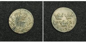 1 Эре Швеция Серебро Фредрик I (король Швеции) (1676 -1751)