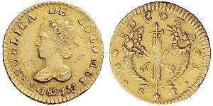 1 Эскудо Великая Колумбия (1819 - 1831) Золото