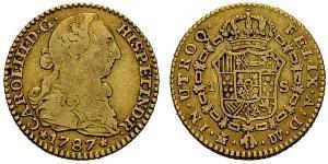 1 Эскудо Испания Золото Карл III король Испании (1716 -1788)