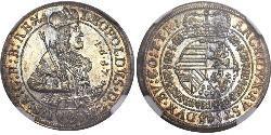 1/10 Thaler 神圣罗马帝国 (962 - 1806) 銀 利奥波德一世 (神圣罗马帝国)(1640-1705)