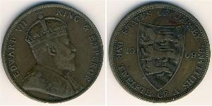1/12 Шилінг Джерсі Бронза Едвард VII (1841-1910)