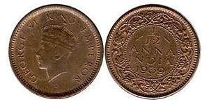 1/12 Anna Raj Britannico (1858-1947) Rame Giorgio VI (1895-1952)