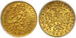 1/12 Ducat Austria  Gold Leopold I, Holy Roman Emperor (1640-1705)