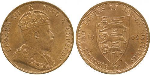 1/12 Shilling Jersey Bronze Édouard VII (1841-1910)