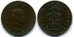 1/12 Tanga Portuguese India (1510-1961) Bronze