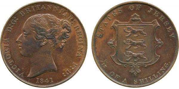 1/13 Шилінг Джерсі Мідь Вікторія (1819 - 1901)