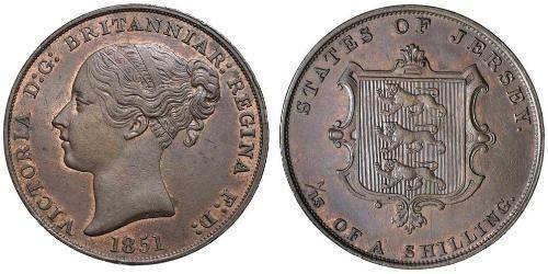1/13 Shilling Jersey 銅 维多利亚 (英国君主)