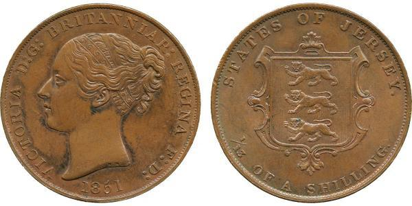 1/13 Shilling Jersey Cuivre Victoria (1819 - 1901)