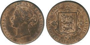 1/13 Shilling Jersey Kupfer Victoria (1819 - 1901)