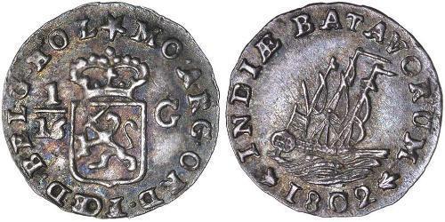1/16 Gulden República Bátava (1795 - 1806) Plata