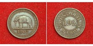 1/192 Rixdollar Шри Ланка/Цейлон Медь