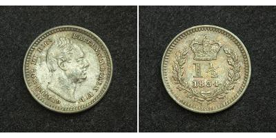 1 1/2 Penny 1834 United Kingdom of Great Britain and Ireland