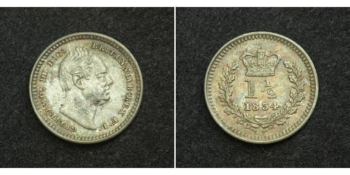 1 1/2 Penny United Kingdom of Great Britain and Ireland (1801-1922) Silver William IV (1765-1837)
