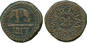 1/24 Rixdollar / 2 Stiver Sri Lanka Cobre
