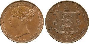 1/26 Шилінг Джерсі Мідь Вікторія (1819 - 1901)