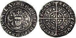 1/2 Гроут Королівство Англія (927-1649,1660-1707) Срібло Генріх VI (1421-1471)