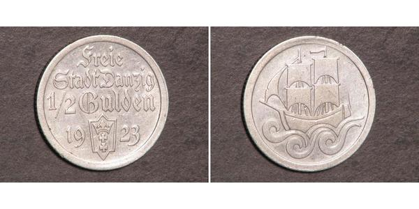 1/2 Гульден Gdansk (1920-1939) Серебро