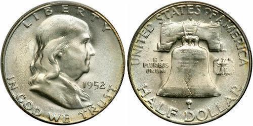1/2 Долар США (1776 - ) Срібло Франклін Делано Рузвельт (1882-1945)