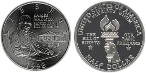 1/2 Долар США (1776 - ) Срібло Джеймс Медісон (1751 - 1836)
