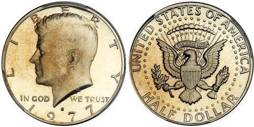 1/2 Долар США (1776 - ) Срібло Джон Фітцджеральд Кеннеді  (1917-1963)