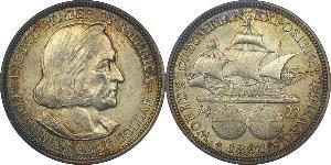 1/2 Доллар США (1776 - ) Серебро Христофор Колумб (1451 - 1506)