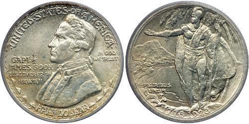 1/2 Доллар США (1776 - ) Серебро Джеймс Кук