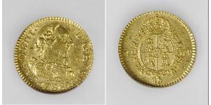 1/2 Ескудо Іспанська Імперія (1700 - 1808) Золото Карл III король Іспанії (1716 -1788)