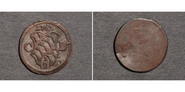 1/2 Крейцер Бавария (курфюршество) (1623 - 1806) Серебро Максимилиан III (курфюрст Баварии)(1727 – 1777)