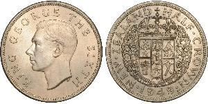 1/2 Крона(английская) Новая Зеландия Никель/Медь Георг VI (1895-1952)