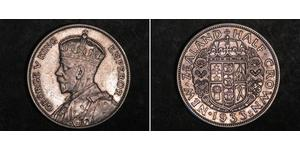 1/2 Крона(английская) Новая Зеландия Серебро Георг V (1865-1936)