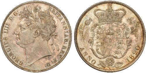 1/2 Крона(английская) Соединённое королевство Великобритании и Ирландии (1801-1922) Серебро Георг IV (1762-1830)