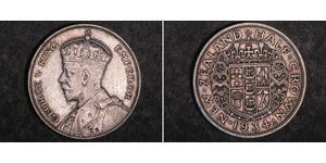 1/2 Крона(англійська) Нова Зеландія Срібло Георг V (1865-1936)