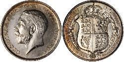 1/2 Крона(англійська) Сполучене королівство Великобританії та Ірландії (1801-1922) Срібло Георг V (1865-1936)
