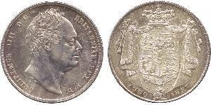1/2 Крона(англійська) Сполучене королівство Великобританії та Ірландії (1801-1922) Срібло Вільгельм IV (1765-1837)