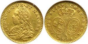 1/2 Луидор Королевство Франция (843-1791) Золото Людовик XV (1710-1774)