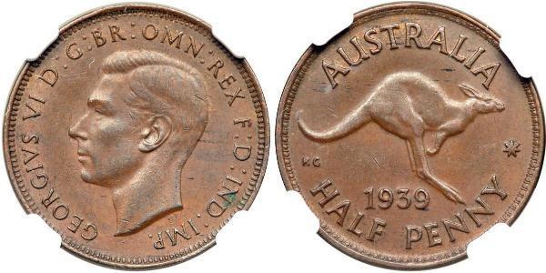 1/2 Пенни Австралия (1939 - ) Бронза