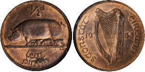 1/2 Пенни Ирландия (1922 - ) Бронза