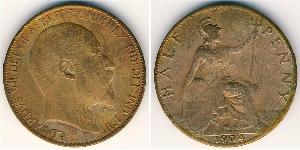 1/2 Пенни Соединённое королевство Великобритании и Ирландии (1801-1922) Бронза Эдуард VII (1841-1910)