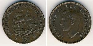 1/2 Пенни Южно-Африканская Республика Бронза Георг VI (1895-1952)
