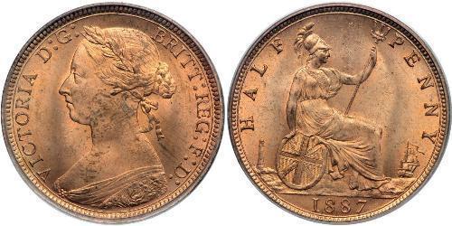 1/2 Пенни Соединённое королевство Великобритании и Ирландии (1801-1922)  Виктория (1819 - 1901)