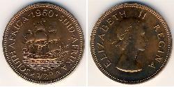 1/2 Пені Південно-Африканська Республіка Бронза Єлизавета II (1926-)