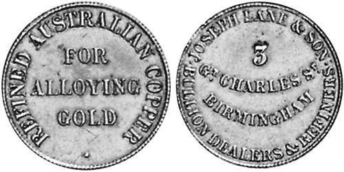 1/2 Пені Австралія (1788 - 1939) Мідь