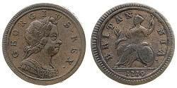 1/2 Пені Королівство Великобританія (1707-1801) Мідь Георг I (1660-1727)